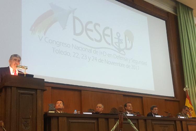 El Secretario de Estado de Defensa clausura el V Congreso Nacional de I+D en Defensa y Seguridad - DESEi+d 2017