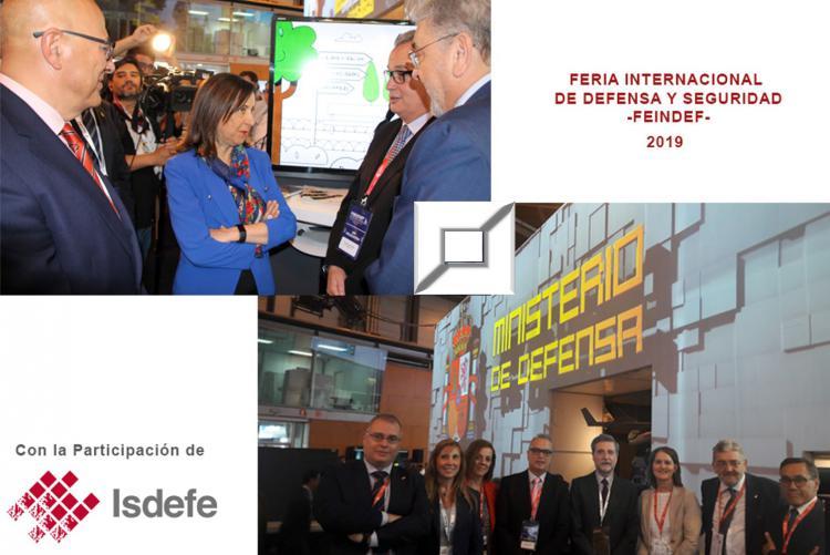 Isdefe recibe la visita de la Ministra y del Secretario de Estado de Defensa en FEINDEF