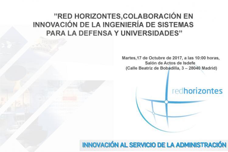Jornada Red Horizontes, Colaboración en Innovación de la Ingeniería de Sistemas para la Defensa y Universidades