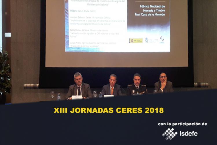 ISDEFE EN LAS XIII JORNADAS CERES 2018