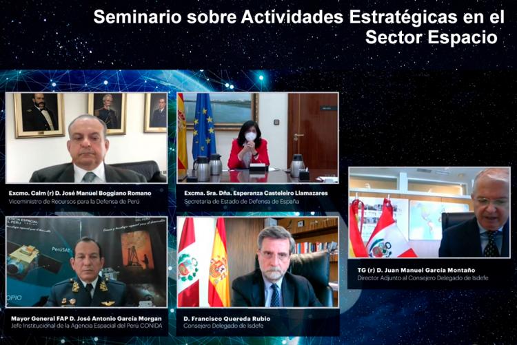 """""""Seminario Conjunto Perú-España: Actividades Estratégicas en el Sector Espacio"""""""