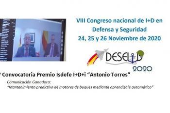 Presentation of the 5th Isdefe Antonio Torres DESEi+D R&D Award