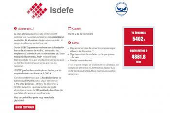 """Isdefe recauda más ocho mil euros en la """"Operación Kilo"""""""