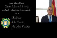 Jesús Alonso nombrado Académico de las Ciencias y las Artes Militares
