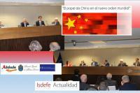 """Isdefe acoge la jornada """"El papel de China en el nuevo orden mundial"""""""