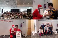 Voluntarios de Isdefe celebran la Navidad con los niños de la Fundación Masnatur