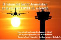 """Jornada virtual """"El futuro del sector aeronáutico en la era post COVID-19, a debate"""""""
